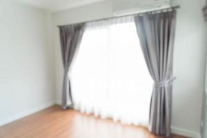 Decoración interior de cortina de desenfoque abstracto en la pared de la sala de estar foto