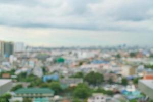 Resumen borroso de la ciudad de Bangkok para el fondo foto