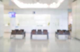 interior borroso abstracto en el hospital para el fondo foto