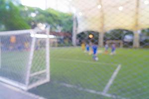 Abstract blurred soccer field photo