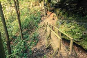 ruta de senderismo en la garganta del río rojo foto