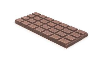 barras de chocolate sobre fondo blanco foto