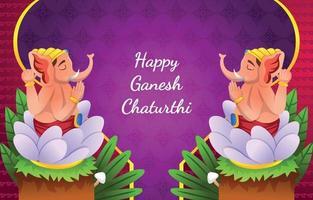 Ganesh Chaturthi Festival Background vector