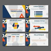 End of Year Presentation Template vector