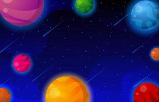Beautiful Space In the Night vector