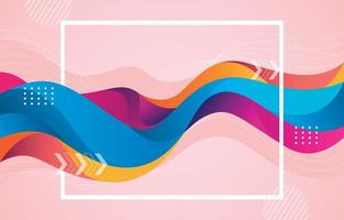 Abstract Liquid Colorful Background vector