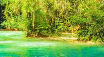 Most beautiful waterfalls Kuang Si waterfall Luang Prabang Laos. photo