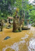 Buddha statues Tar Nim Waterfall Secret Magic Garden Koh Samui. photo
