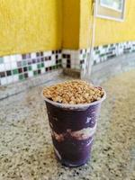 superfood brasileño berry acai king, angra dos reis brasil. foto