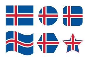Iceland flag simple illustration for independence day or election vector