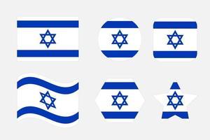 ilustración simple de la bandera de israel para el día de la independencia o las elecciones vector