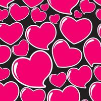 Heart Love Seamless Pattern Background Vector Illustration