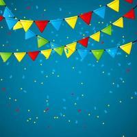 Party Flag Background Vector Illustration. EPS 10