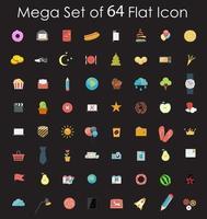 Set of Flat Design Icons Vector Illustration.