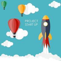 Quick Start Up Flat Concept Vector Illustration EPS10