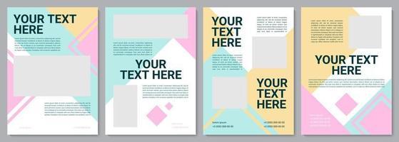 Kindergarten service brochure template vector