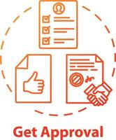 Get approval concept icon vector