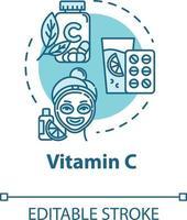 Vitamin C, skincare and healthcare, cosmetology concept icon vector