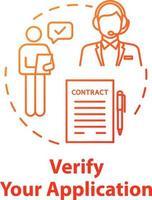 Verifique el icono del concepto de su aplicación vector