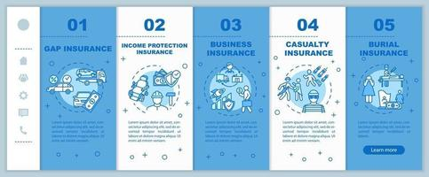 Income protection onboarding vector template