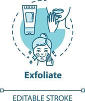 Exfoliate skin, peeling, cosmetology concept icon vector