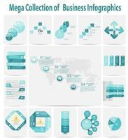 Mega collection infographic template business concept vector