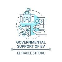 Eco cars governmental support concept icon. vector
