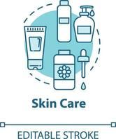 Skin care, face and body beauty concept icon vector