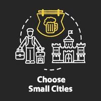 Choose small cities chalk RGB color concept icon vector