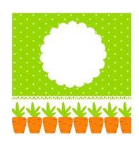 Ilustración de vector de marco lindo de zanahoria