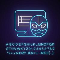 Online wrestling games neon light icon vector