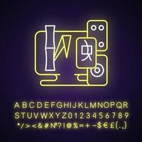Tile games neon light icon vector