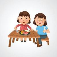 Ilustración de mamá y niño aislado vector