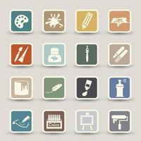 Art icons illustration vector