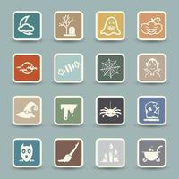 Halloween icons set illustration vector