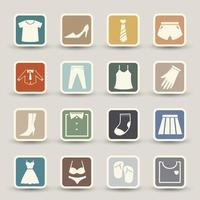 Clothing icons set illustration vector