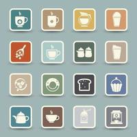 Coffee and tea Icons isolated on background vector
