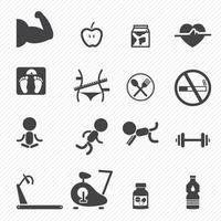 Fitness Icons set illustration vector