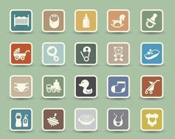 Baby Icons set illustration vector