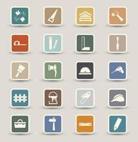 Carpentry icons set illustration vector