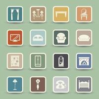 Furniture Icons set illusration vector