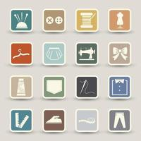 Sewing equipment icons illustration vector