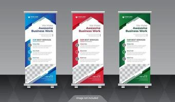 Corporate roll up banner. Modern roll up banner vector