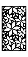 Laser cut engraving ornaments for windows, doors, interiors vector