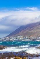 Rocky coastal landscape at False Bay, Cape Town, South Africa photo