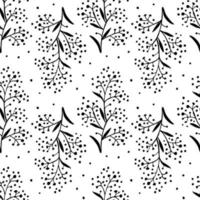 twig on white background seamless vector pattern