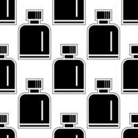 whiskey bottle seamless pattern black and white vector