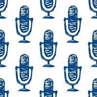 microphone karaoke seamless pattern doodle vector