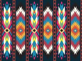 tribal geometric pattern seamless textile ethnic texture vector