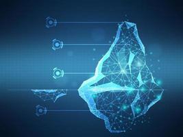 iceberg futuristic technology background vector